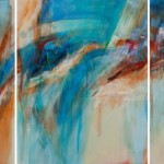 Contrasting Definitions  2011 30 x 72 inches triptych  acrylic on canvas SOLD