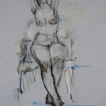 Female Figure    2009 30 x 22 inches pastel on paper AVAILABLE