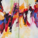 "Duality 20"" x 18"" diptych acrylic on canvas"
